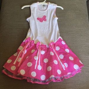 Rare Editions Pink Butterfly Dress